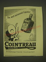 1955 Cointreau Liqueur Ad - The well balanced liqueur