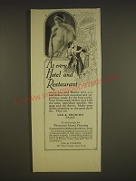 1926 Lea & Perrin's Sauce Ad - At every hotel and restaurant