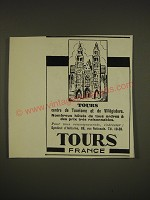 1932 Tours France tourism Ad - in French - Tours centre de Tourisme et de Villegiature