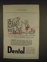1933 Dentol Toothpaste Ad - in French - si tu veux. Conserver de Bellas dents, il
