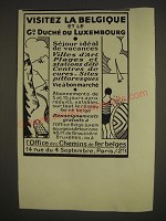 1933 Belgium & Grand Duchy of Luxemburg Ad - in French - Visitez la Belgique et