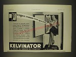 1934 Kelvinator Refrigerator Ad - in French - Voyez comme c'est spacieux
