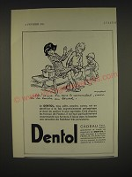 1934 Dentol Toothpaste Ad - in French - Ah! I que su sens le camembert, nasse soi
