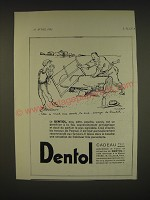 1934 Dentol Toothpaste Ad - in French - Elle a mal aux dents, ta sue, essaye le