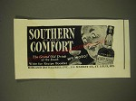 1937 Southern Comfort Liqueur Ad - The grand old drink of the South