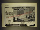 1938 Ideal Standard Ad - in French - La porcelaine vitrifiee Standard