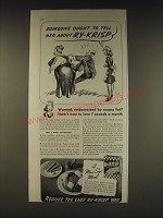 1939 Ry-Krisp Crackers Advertisement - Someone ought to tell her about Ry-Krisp