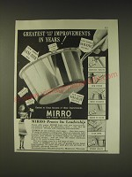 1939 Mirro Sauce Pan Ad - Greatest sauce pan improvements in years