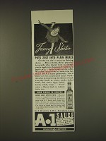 1939 A.1. Sauce Ad - Fancy Skater puts zest into plain meals
