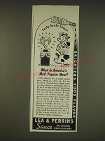 1939 Lea & Perrins Sauce Ad - What is America's most popular meat?