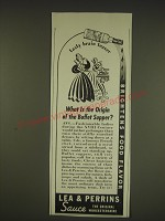 1939 Lea & Perrins Sauce Ad - What is the origin of the buffet supper