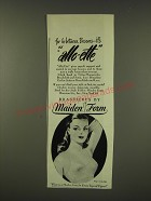 1946 Maiden Form Allo-ette Bra Ad - For In-between Bosoms.. It's allo-ette