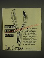 1946 La Cross Cuticle Nippers Ad - They're coming back