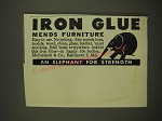 1946 McCormick Iron Glue Ad - Iron Glue mends furniture