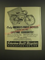 1944 Schwinn Bicycles Ad - Only America's finest bicycles could rate this