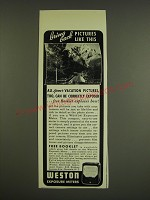 1941 Weston Exposure Meters Ad - Bring back pictures like this