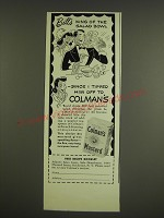 1941 Colman's Mustard Ad - Bill's king of the salad bowl