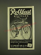 1941 Rollfast Bicycles Ad - Rollfast Bicycles streamline beauty