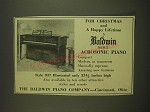 1938 Baldwin Acrosonic Piano Style 937 Ad - For Christmas and a happy lifetime