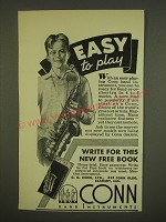 1936 Conn Saxophone Ad - Easy to play