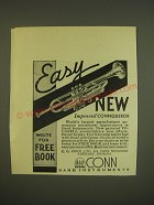 1936 Conn Connqueror Trumpet Ad - Easy new