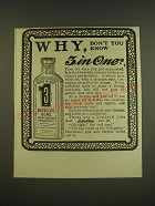 1901 3-in-One Oil Ad - Why, don't you know 3 in One?