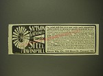 1901 Stover Samson Galvanized Steel Windmill Ad - No wind mill has ever met