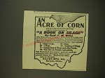 1901 Silver Mfg. Ad - An Acre of Corn