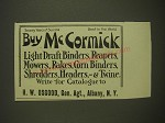 1901 H.W. Osgood McCormick Agriculture Equipment Ad - Buy McCormick Light Draft