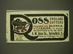 1901 Ross Ensilage Cutters Advertisement