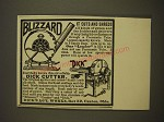 1900 Dick's Agriucltural Works Dick Cutter and Blizzard Advertisement