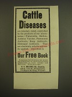 1899 H.K. Mulford Co. Ad - Cattle Diseases
