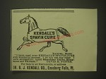 1899 Kendall's Spavin Cure Advertisement - Kendall's Spavin Cure