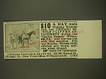 1899 Chicago Flexible Shaft Co. Ad - $10 a day made clipping horses