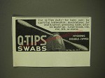 1939 Q-Tips Swabs Ad - Use Q-Tips daily - for baby care
