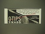1939 Q-Tips Swabs Ad - Q-Tips - 2 sterilized swabs on every stick