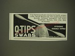 1939 Q-Tips Swabs Ad - Use these sanitary swabs for teeth, gums, nails, facial