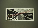 1939 Q-Tips Swabs Ad - New, larger packages!