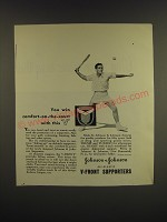 1947 Johnson & Johnson V-Front Supporters Ad - You win comfort-on-the-court