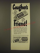 1947 Vicks Medicated Cough Drops and Inhaler Ad - Cougher's friend