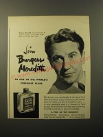 1948 Williams Aqua Velva After Shave Ad - Join Burgess Meredith
