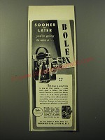 1949 Bolex Movie Cameras Ad - Sooner or later you're going to own a Bolex