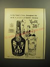 1950 Vat 69 Scotch Ad - In the finest clubs throughout the world, a preferred