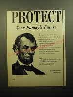 1950 Lincoln National Life Insurance Ad - Protect your family's future