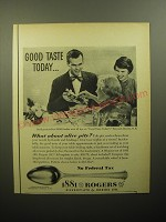 1950 Oneida 1881 Rogers Del Mar Silverware Ad - Good taste today