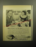 1950 Oneida 1881 Rogers Plantation Silverware Ad - Good taste today