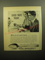 1950 Oneida 1881 Rogers Brookwood Silverware Ad - Good taste today