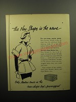 1950 Modess Pads Advertisement - The new shape