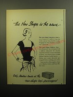 1950 Modess Pads Ad - The new shape