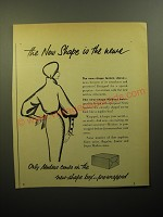 1950 Modess Pads Ad - The new shape is the news